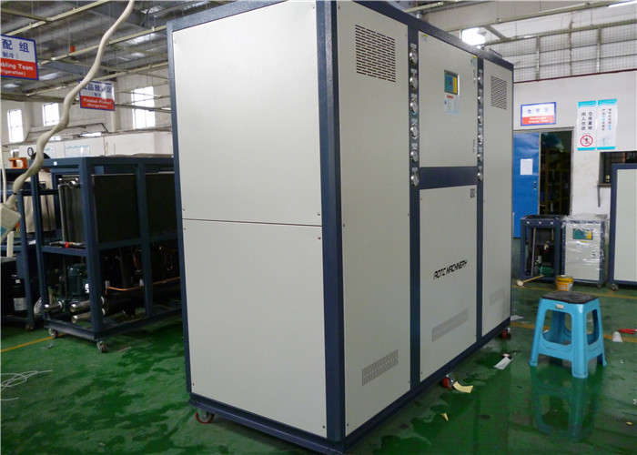single compressor and plastic Industry water chiller with R407C
